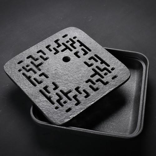 Square Creative Hollow Water Storage Ceramics Tea Tray 280x280x55mm