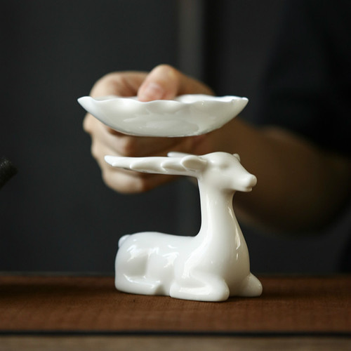 Creative White Porcelain Gongfu Tea Strainer