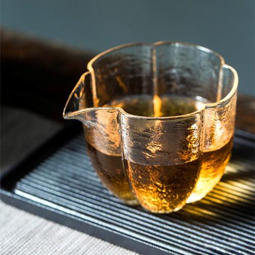 Petal Glass Fair Cup Of Tea Serving Pitcher Creamer 280ml