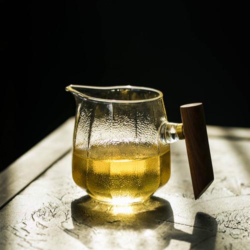 Mu Ba Ce Ba Glass Fair Cup Of Tea Serving Pitcher Creamer