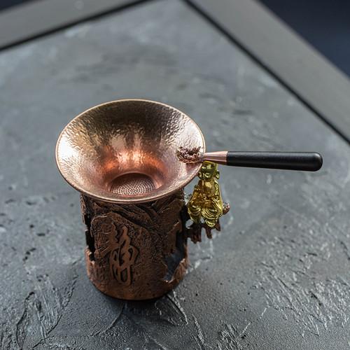 Goldfish Pure copper Gongfu Tea Strainer
