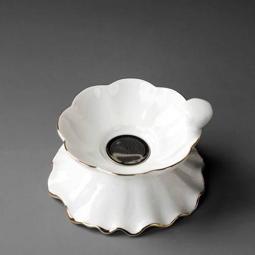 Creative Petal Ceramics Gongfu Tea Strainer