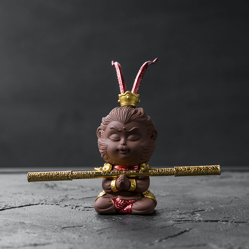 Monkey King Purple Sand Tea Pet Table Decoration Ornament
