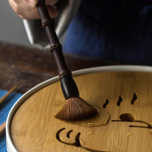 Huan Mao Bamboo Brush for Gongfu Tea Ceremony Teapot Table Cleaning