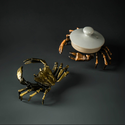 Crab Alloy Teapot Gaiwan Lid Holder Stand Kung Fu Tea Ceremony Accessory
