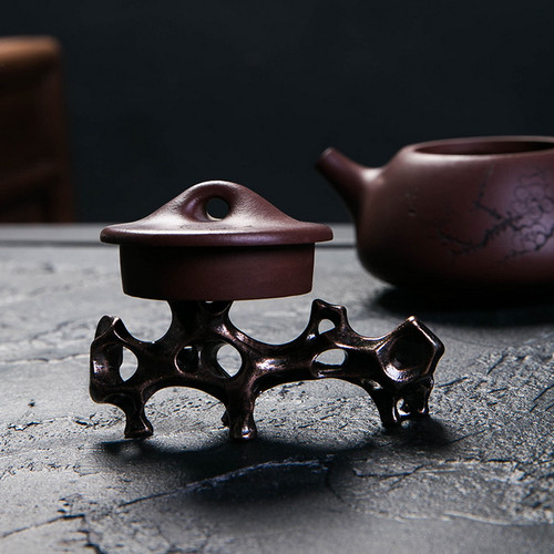 Shiyan Alloy Teapot Gaiwan Lid Holder Stand Kung Fu Tea Ceremony Accessory