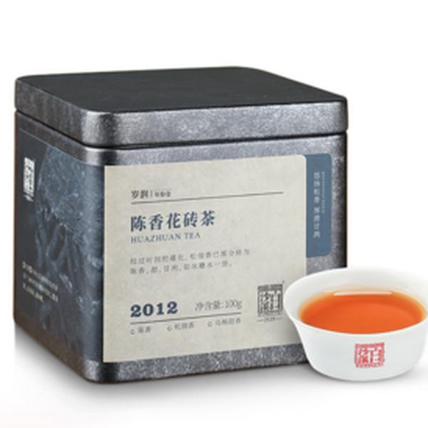 BAISHAXI Brand Chen Xiang Flower Brick Tea Hunan Anhua Dark Tea 100g Brick