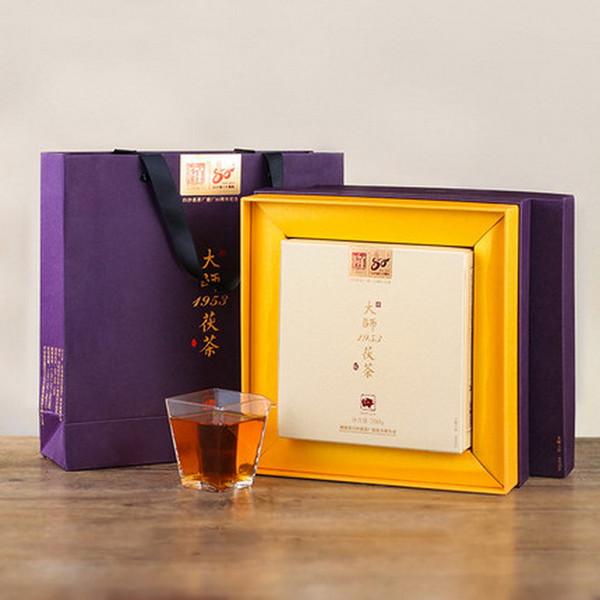 BAISHAXI Brand Dashi 1953 Fucha Anhua Golden Flowers Fucha Dark Tea 700g Brick
