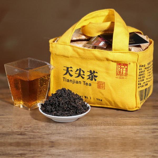BAISHAXI Brand Song Xiang Tian Jian Hu Nan Anhua Tianjian Dark Tea 1000g Bamboo Shell