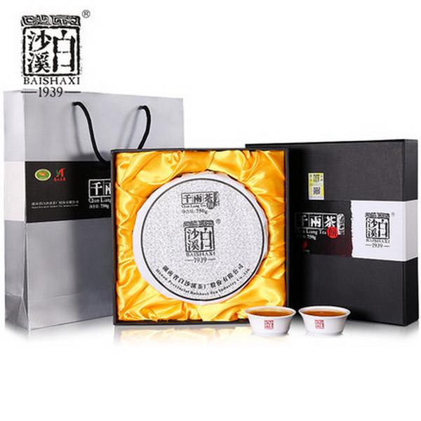 BAISHAXI Brand Qian Liang Cha Hunan Anhua Dark Tea 750g Cake
