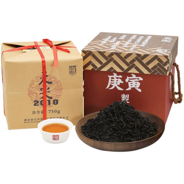 BAISHAXI Brand Tian Jian 2010 Hu Nan Anhua Tianjian Dark Tea 750g