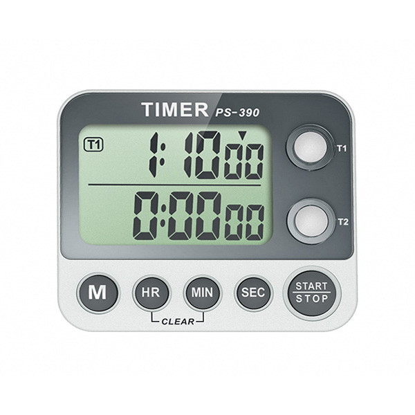 Digital Dual Timer Countdown Timer Stopwatch with Flashing Lights