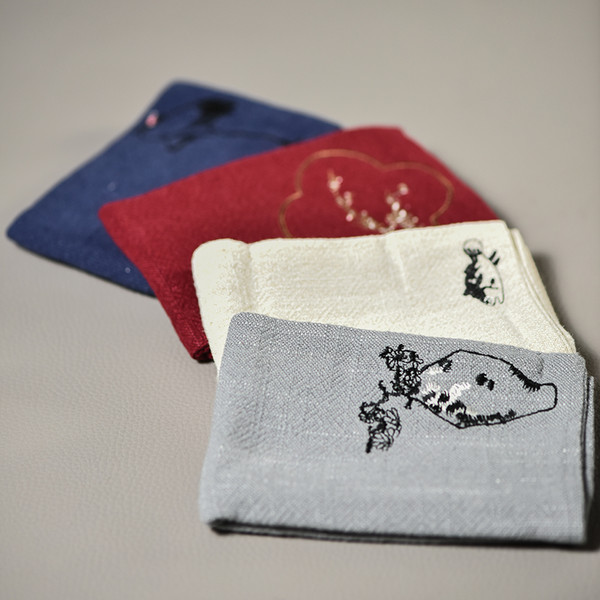 Hand Painted Professional Absorbent Gongfu Tea Ceremony Cleaning Cloth Table Towel 10.2x10.2cm