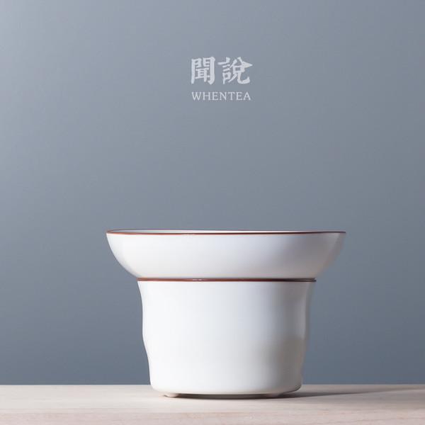Zhi Bai Porcelain Gongfu Tea Strainer