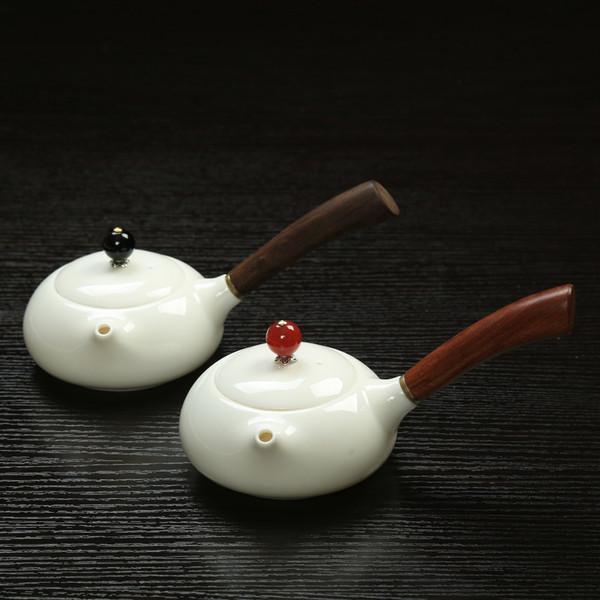Wooden Handle Ce Ba Hu Porcelain Chinese Kung Fu Tea Teapot 150ml