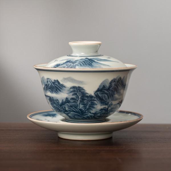 Xiu Li Shan He Celadon Gongfu Tea Gaiwan Brewing Vessel 160ml
