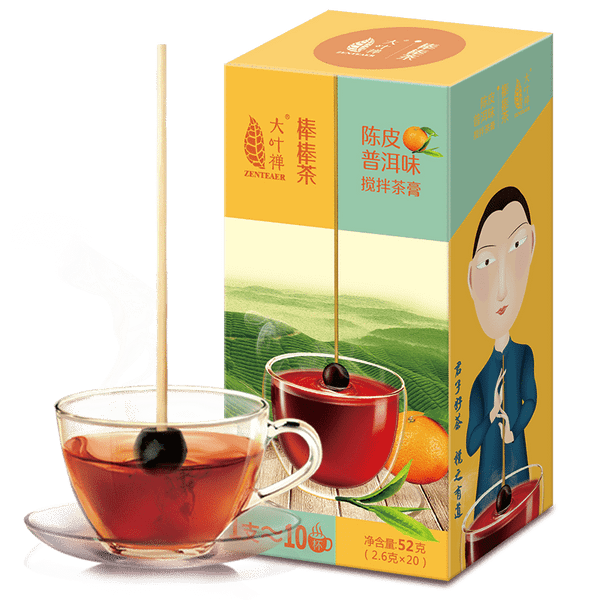 DEEPURE Brand Bang Qu Wei Bang Tea Ball-shaped Tea Gel Instant Chen Pi Pu-Erh Tea Extracts 52g Ripe