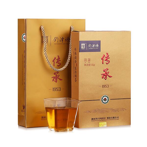 BAISHAXI Brand Chuan Cheng 1953 Anhua Golden Flowers Fucha Dark Tea 1000g Brick