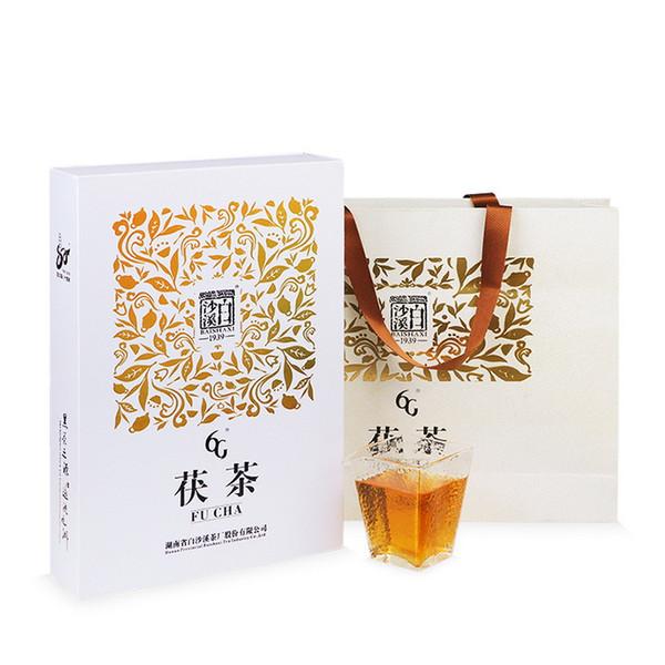 BAISHAXI Brand 6G Anhua Golden Flowers Fucha Dark Tea 1000g Brick