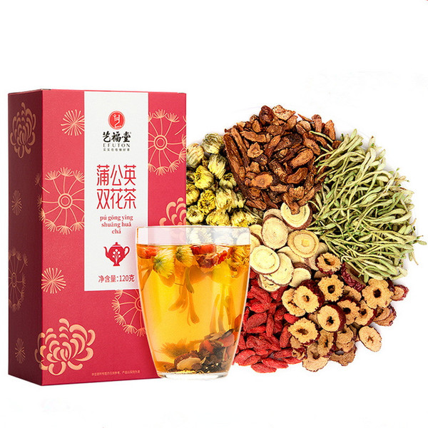 EFUTON Brand Dandelion Root Double Flower Eight Treasures Ba Bao Cha Asssorted Herbs & Fruits Chinese Bowl Tea 120g