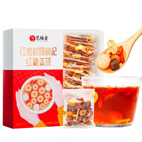 EFUTON Brand Red Dates Guiyuan Wolfberry Brown Sugar Ginger Eight Treasures Ba Bao Cha Asssorted Herbs & Fruits Chinese Bowl Tea 180g