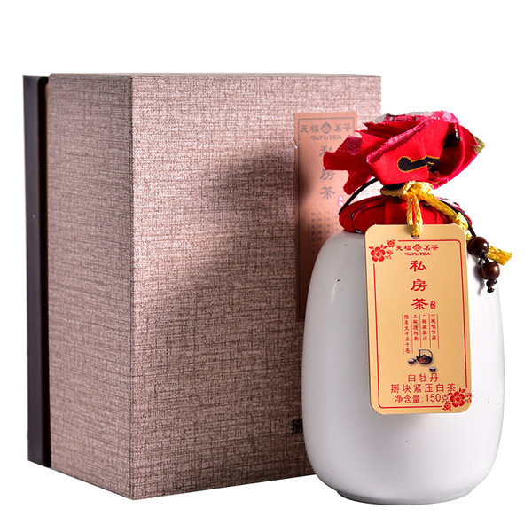 TenFu's TEA Brand Si Fang Cha White Peony Fuding White Tea Nuggets 150g