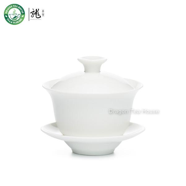 Zhen Chang Shun White Ceramic Gaiwan 100ml 3.4 fl oz