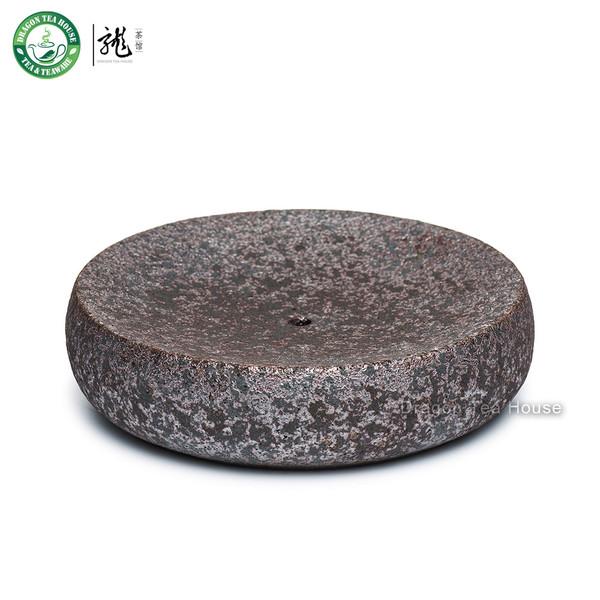 Handmade Wood-Fired Ceramic Teapot Cushion Teacup Coaster Pottery Drip Tray