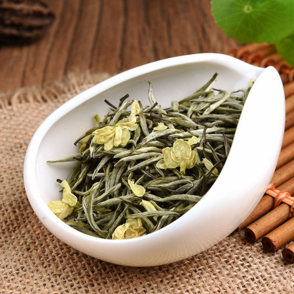 Supreme Organic Golden Tip White Snow Needle Green Tea With Jasmine Flowers 500g