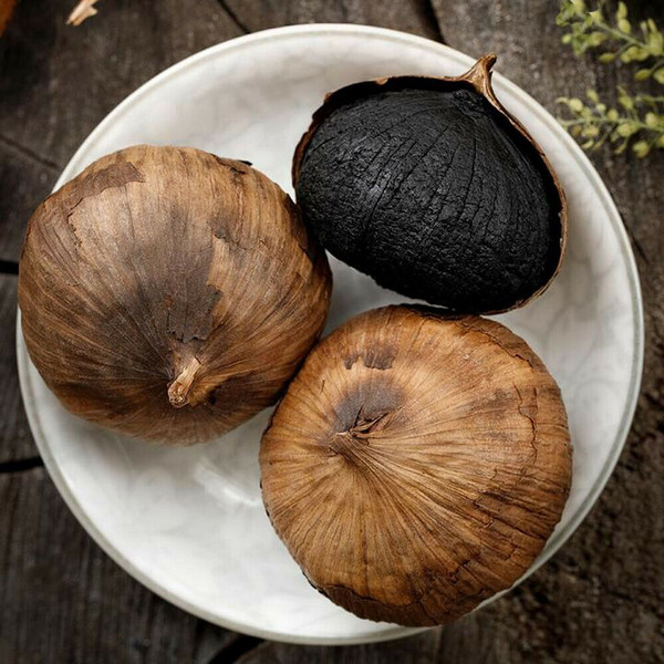 Organic Premium Peeled Chew Whole Black Garlic All Natural Supplement Superfood 500g