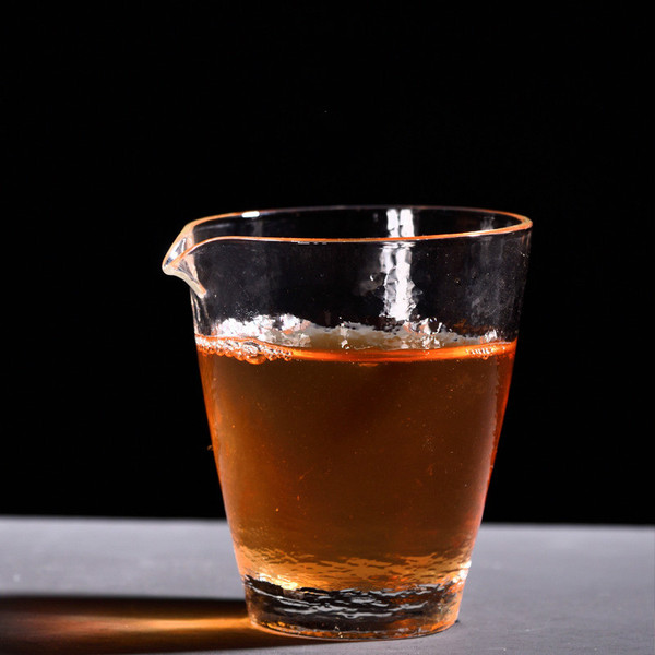 Creative Retro Glass Fair Cup Of Tea Serving Pitcher Creamer 200ml