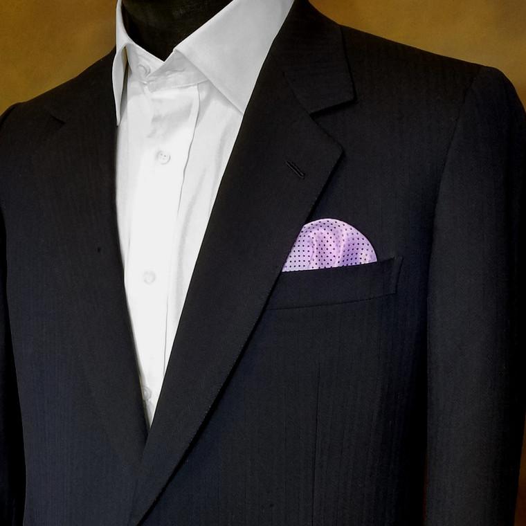 Pre-Folded Dotted Pocket Square Insert - Lavender