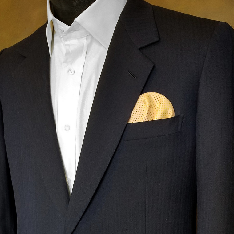 Pre-Folded Dotted Pocket Square Insert - Marigold