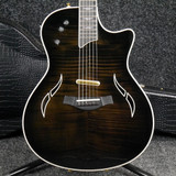 Taylor T5-C1 Electric Guitar - Flamed Trans Black w/Hard Case - 2nd Hand