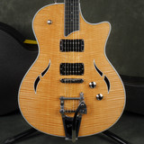 Taylor T3B Semi-Hollow Guitar, Bigsby - Natural Quilt Top w/Hard Case - 2nd Hand