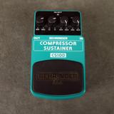 Behringer CS100 Compressor Sustainer FX Pedal - 2nd Hand