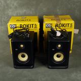 KRK Rokit RP5 G4 Powered Studio Monitors - Pair w/Box & PSU - Ex Demo