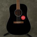 Fender CD-60 V3 Dreadnought Acoustic Guitar - WN - Black - Ex Demo