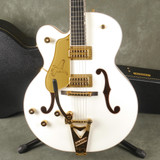 Gretsch G6136TLH White Falcon Players Edition LH - White w/Hard Case - 2nd Hand