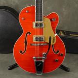 Gretsch 6120TFM Brian Setzer Nashville - Orange Stain w/Hard Case - 2nd Hand