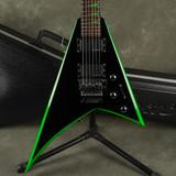 Jackson X Series RRX24 - Black & Green Bevels w/Hard Case - 2nd Hand