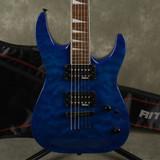 Jackson JS32Q Dinky - Transparent Blue w/Gig Bag - 2nd Hand