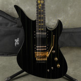 Schecter Synyster Gates Custom S - Black/Gold Pinstripe w/Gig Bag - 2nd Hand