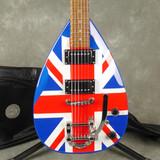 Aston Tear Drop w/Bigsby - Union Jack w/Gig Bag - 2nd Hand