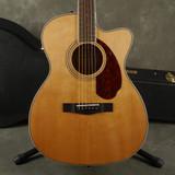 Fender PM-3 Standard Triple-0 Acoustic Guitar - Natural w/Hard Case - Ex Demo