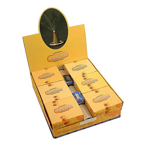 Satya Sandal Sandalwood Cones, 144 Cones Box