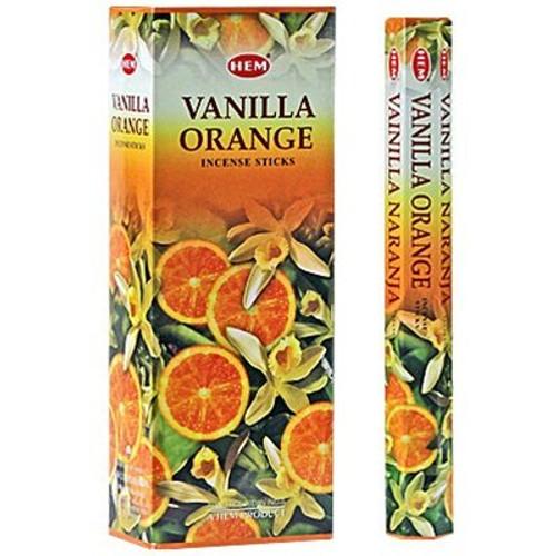 Hem Vanilla Orange Incense, 120 Stick Box