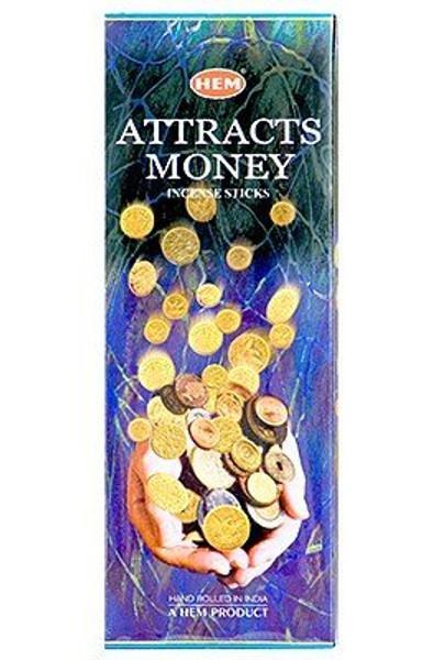 Hem Attracts Money Incense, 120 Stick Box
