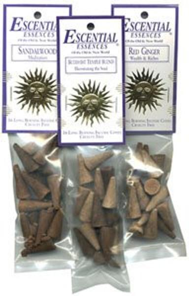 White Jasmine Escential Essences Cone Incense, 16 Cones