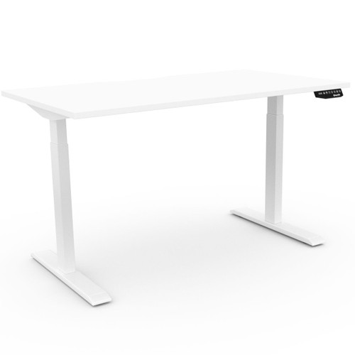 EFurnit Optima Standing Desk- Home office Ergonomic Height adjustable Electric Sit/Stand desk, Dual motor, white top , white  frame, smart, 2 stage EFurnit Optima Standing Desk- Home office Ergonomic Height adjustable Electric Sit/Stand desk, Dual motor, white top , white  frame, smart, 2 stage
